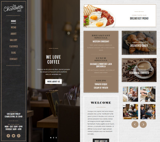 charlotte cafe bistro template
