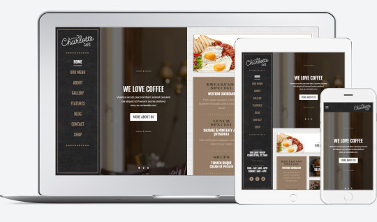 charlotte restaurant wp theme